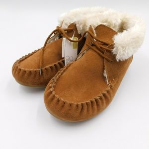 Gilligan & O'Malley Womens Suede Moccasins Size 10